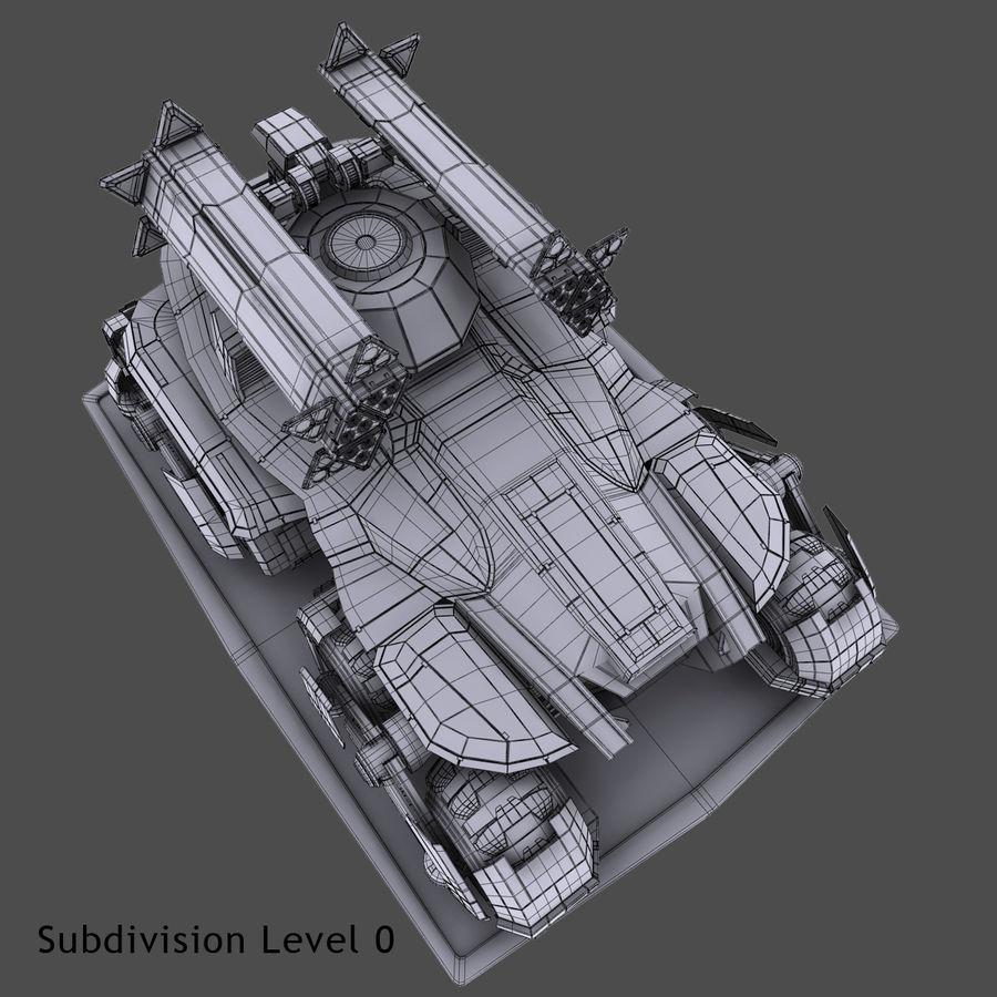 科幻APC坦克 royalty-free 3d model - Preview no. 24