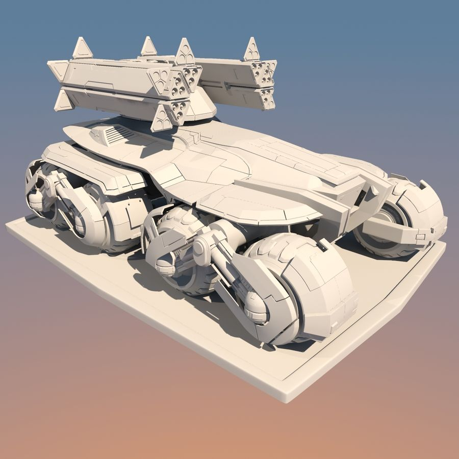 科幻APC坦克 royalty-free 3d model - Preview no. 8