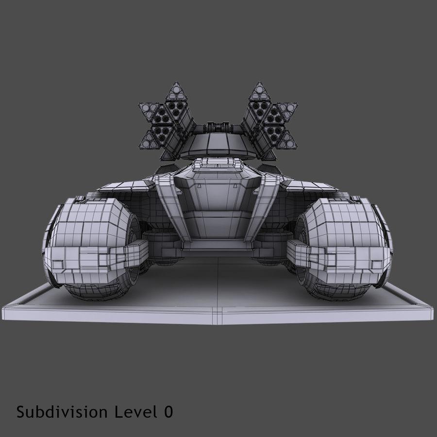 科幻APC坦克 royalty-free 3d model - Preview no. 15