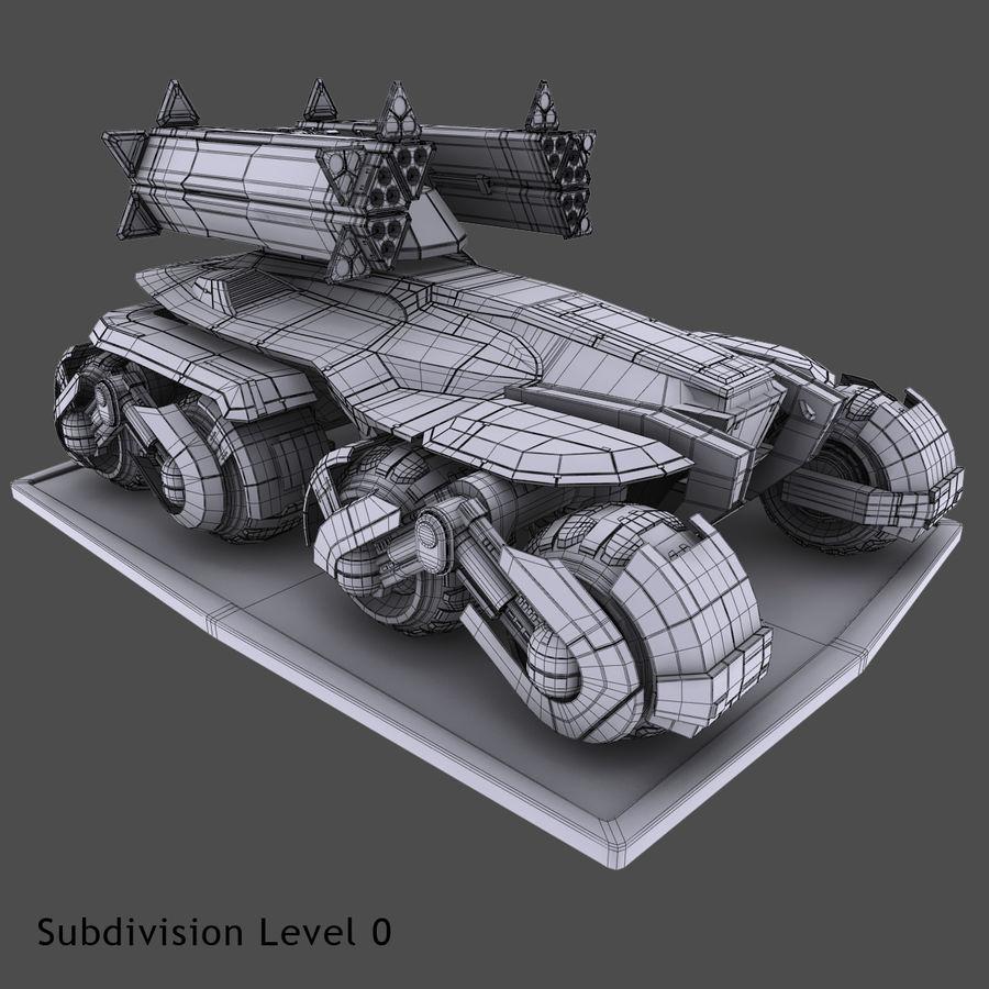 科幻APC坦克 royalty-free 3d model - Preview no. 9