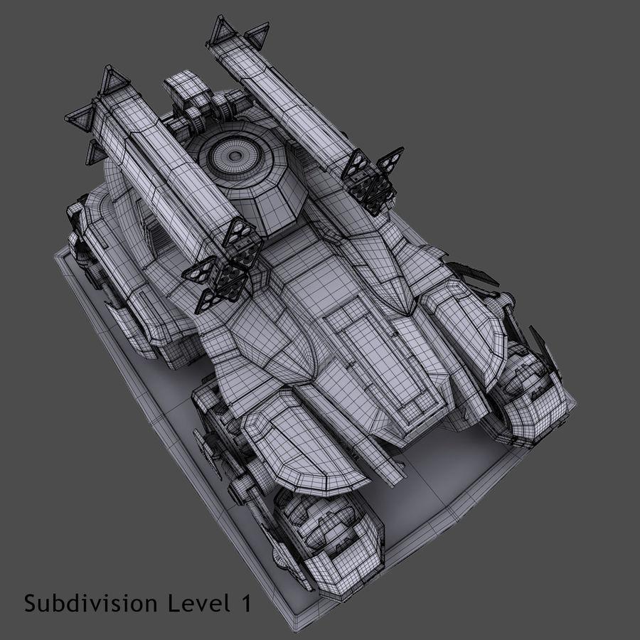 科幻APC坦克 royalty-free 3d model - Preview no. 25