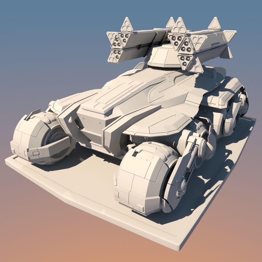 科幻APC坦克 royalty-free 3d model - Preview no. 20