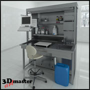 Down Draft Grossing Table with illumination 3d model