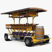 Pedal Pub Rigged 3D-model 3d model