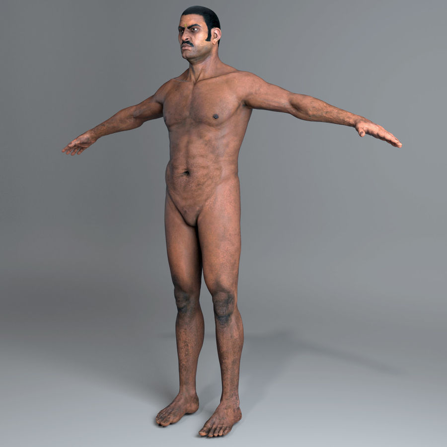 Character Indian Man Full Body royalty-free 3d model - Preview no. 5