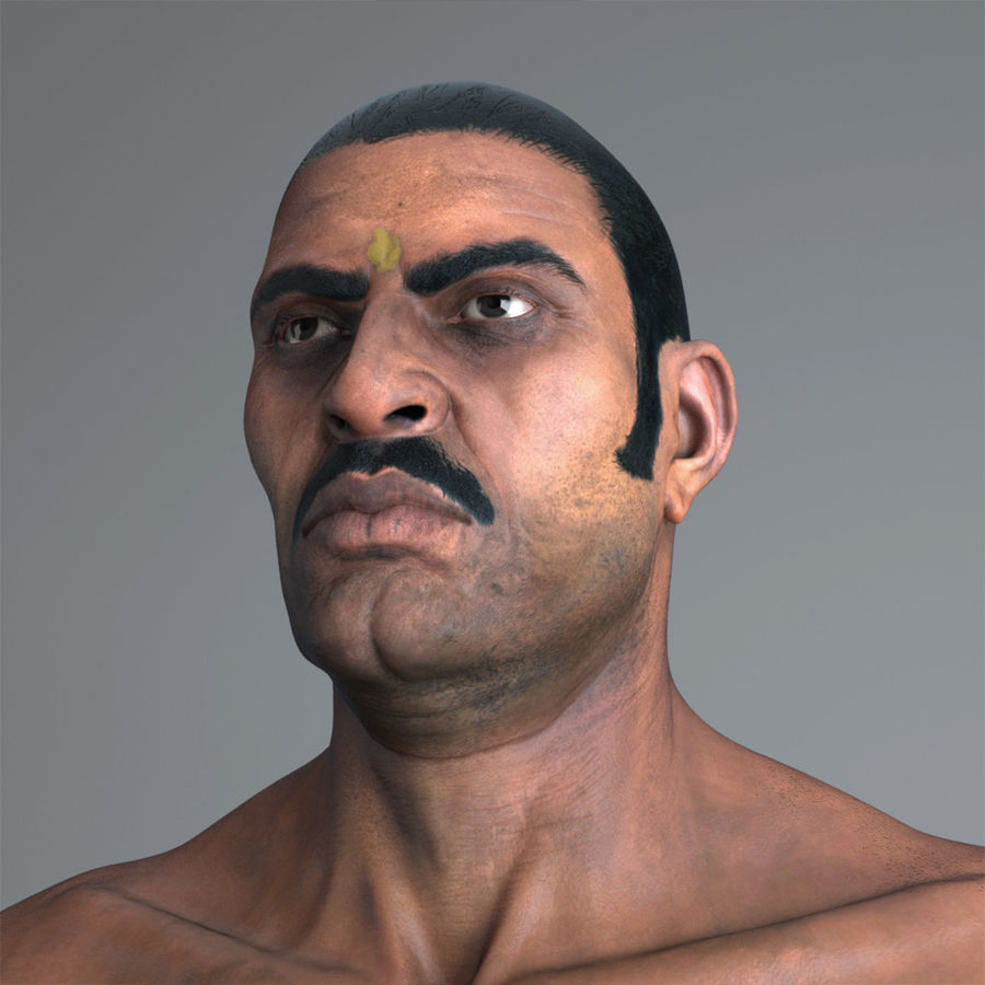 Character Indian Man Full Body royalty-free 3d model - Preview no. 2