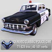 Generisk klassisk polisbil 3d model