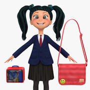 Girl Student 5a (blezer) 3d model