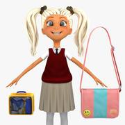 Girl Student 4c (sweter kamizelka) 3d model