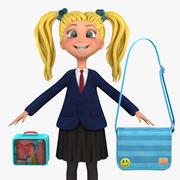 Girl Student 1a (marynarka) 3d model