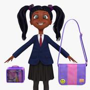 Girl Student 2a (marynarka) 3d model
