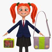 Girl Student 3a (blezer) 3d model