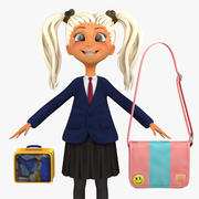 Girl Student 4a (blezer) 3d model