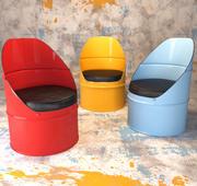 Krzesło przemysłowe Barrel 3d model