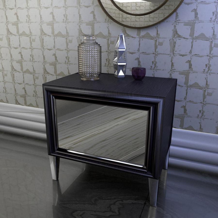 Modern nachtkastje royalty-free 3d model - Preview no. 2