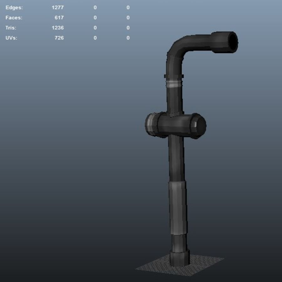Pipe royalty-free 3d model - Preview no. 6