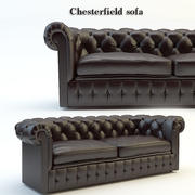 Poltrona clássica capitonê clássica para sofás Chesterfield 3d model