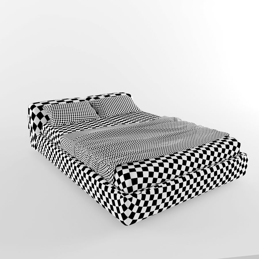 Bed royalty-free 3d model - Preview no. 6
