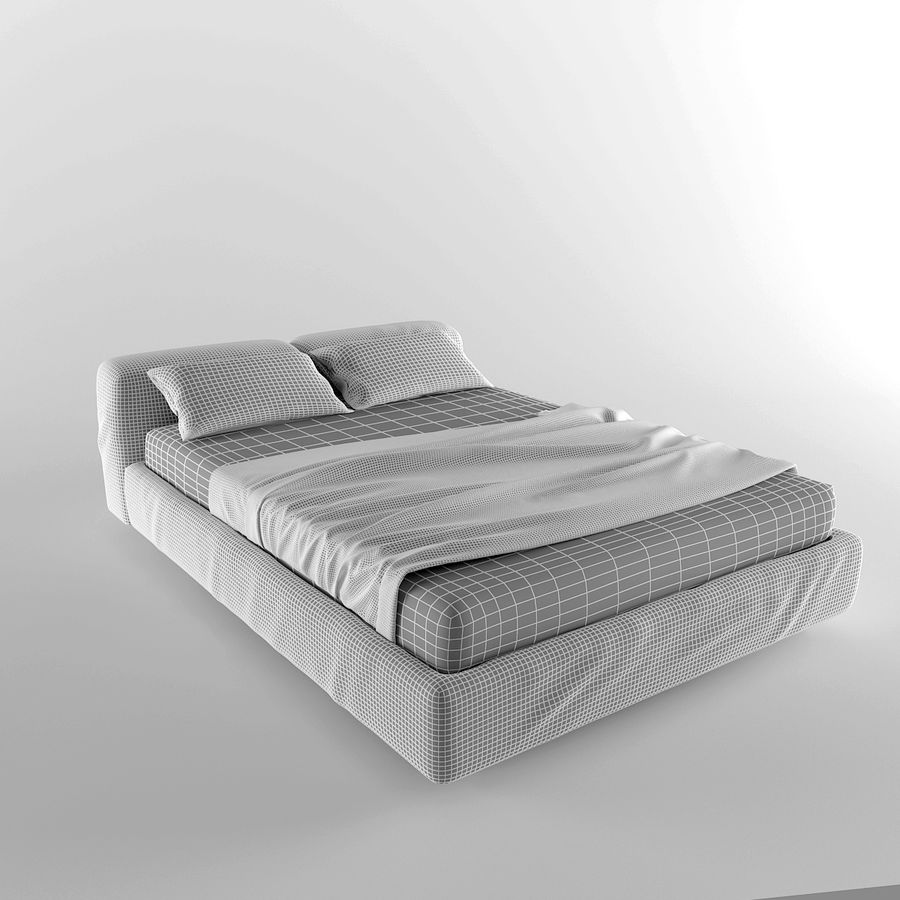 Bed royalty-free 3d model - Preview no. 7