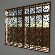 Fenster organisches Design 3d model