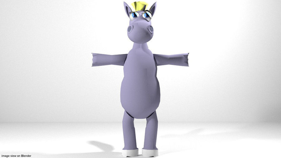 Cartoon Animal Horse royalty-free 3d model - Preview no. 2