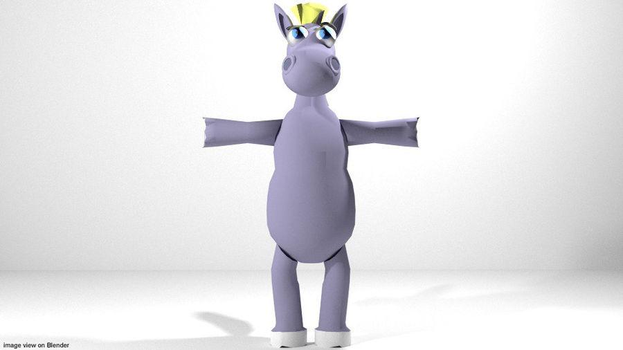漫画の動物の馬 royalty-free 3d model - Preview no. 2