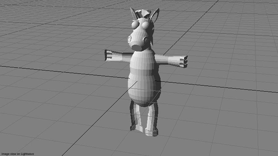 漫画の動物の馬 royalty-free 3d model - Preview no. 5