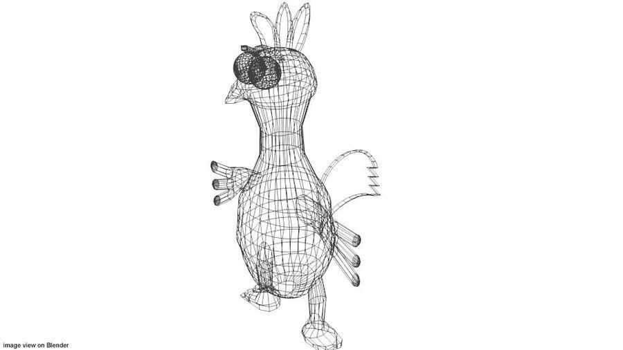 Pollo Animal De Dibujos Animados royalty-free modelo 3d - Preview no. 4