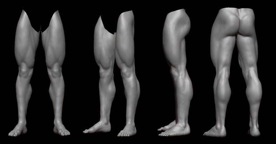 Der männliche Körper royalty-free 3d model - Preview no. 5