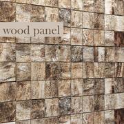Pannello in legno corteccia 3D 3d model