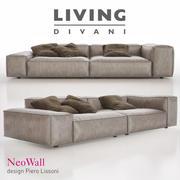 Living Divani - Sofa NeoWall 3d model