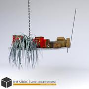 półka drewniana 3d model