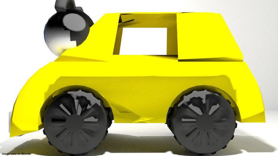 Tecknad fordon - bil royalty-free 3d model - Preview no. 3