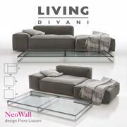Living Divani - Kompozycja NeoWall Sofa II 3d model