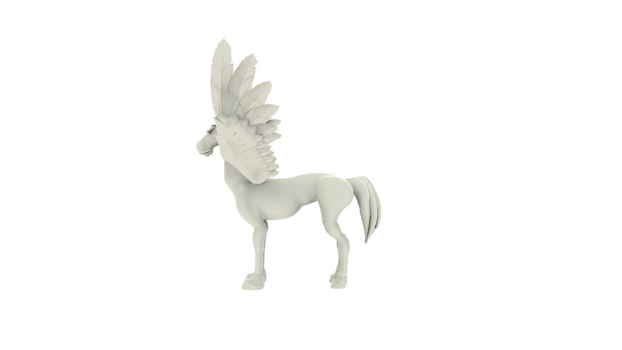 Pegasus MY001 royalty-free 3d model - Preview no. 3