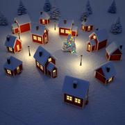 圣诞村3D模型 3d model