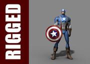 Captain America (Rig) 3d model