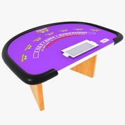 Blackjack bord 3d model
