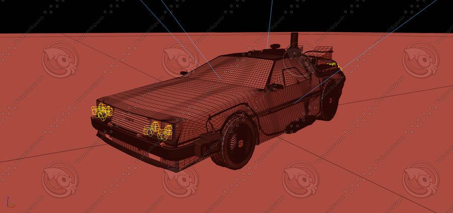 Delorean dmc-12 Back to the Future royalty-free 3d model - Preview no. 3