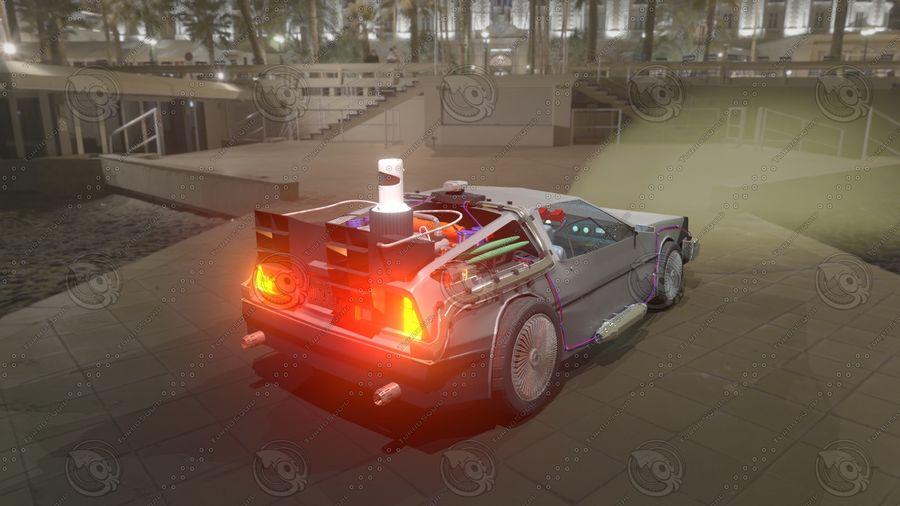 Delorean dmc-12 Back to the Future royalty-free 3d model - Preview no. 6
