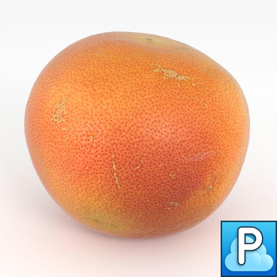Grapefruit Orange royalty-free 3d model - Preview no. 1