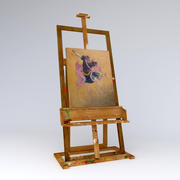 schildersezel vuil met foto 3d model