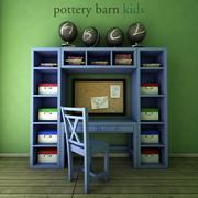 PotteryBarn, Preston Desk & Storage Wall System. 3d model
