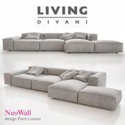 Living Divani - NeoWall Sofa Skład I 3d model