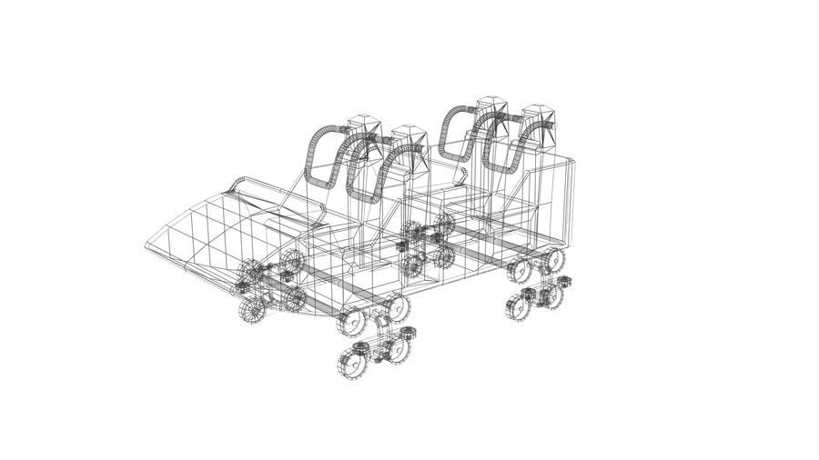 Roller Coaster Cart royalty-free 3d model - Preview no. 7
