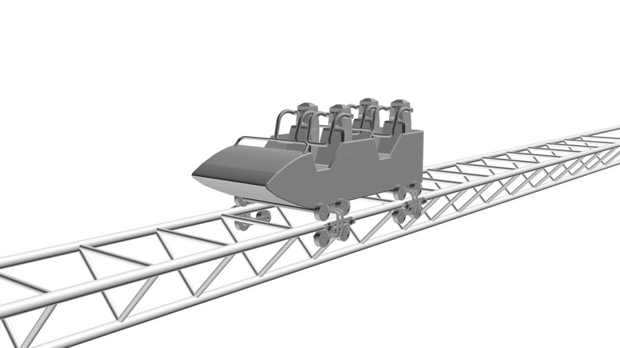 Roller Coaster Cart royalty-free 3d model - Preview no. 6