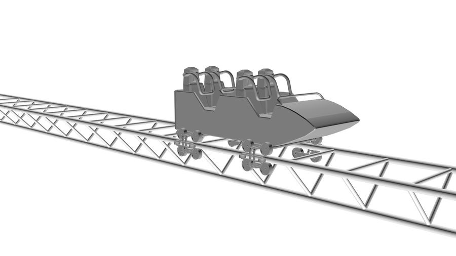 Roller Coaster Cart royalty-free 3d model - Preview no. 1