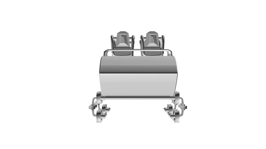 Roller Coaster Cart royalty-free 3d model - Preview no. 2