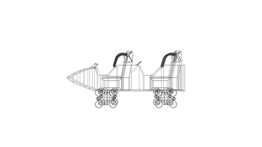 Roller Coaster Cart royalty-free 3d model - Preview no. 5