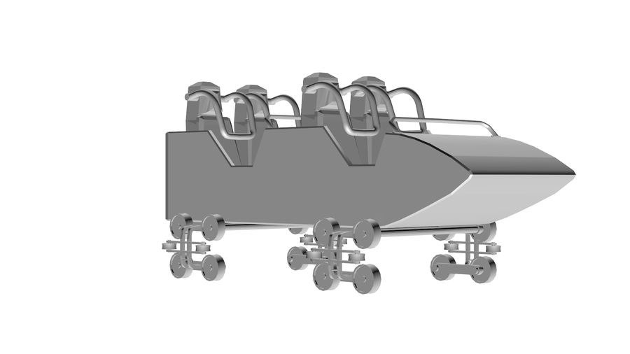 Roller Coaster Cart royalty-free 3d model - Preview no. 3